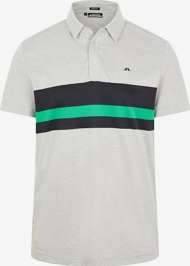 J.Lindeberg Functioneel shirt 'Matt' in de kleur Grijs gemêleerd / Groen / Zwart, Productweergave