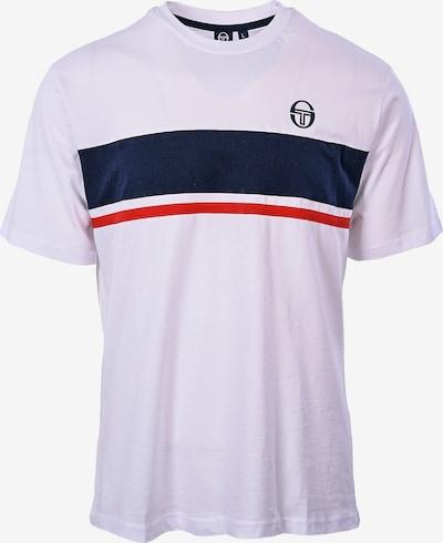 Sergio Tacchini T-Shirt 'Feluga' in nachtblau / rot / weiß, Produktansicht