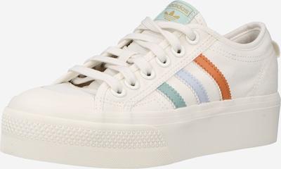 ADIDAS ORIGINALS Zemie brīvā laika apavi 'Nizza', krāsa - pasteļzils / pasteļzaļš / oranžsarkans / gandrīz balts, Preces skats