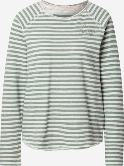 LIEBLINGSSTÜCK Shirt 'Cathrina' in grün / weiß, Produktansicht