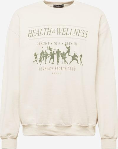 Mennace Sweat-shirt en beige / vert, Vue avec produit