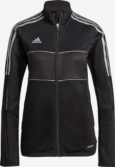 ADIDAS PERFORMANCE Trainingsjacke 'Tiro' in schwarz / weiß, Produktansicht