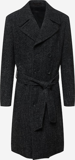 Oscar Jacobson Between-Seasons Coat 'Christoph' in Grey / Black, Item view