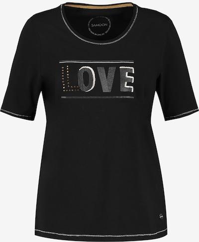 SAMOON T-Shirt in schwarz / silber, Produktansicht