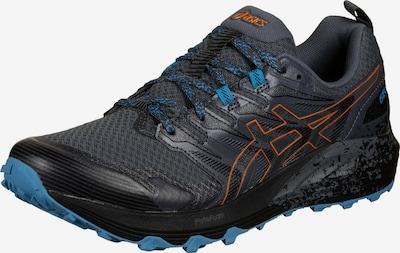 ASICS Chaussure de course en bleu-gris / gris / orange foncé, Vue avec produit