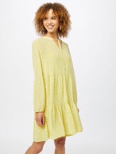 COMMA Kleid in gelb / weiß, Modelansicht