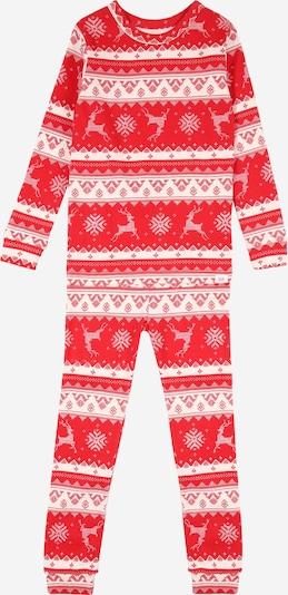 GAP Pidžama set 'FAIRISLE' u crvena / bijela, Pregled proizvoda