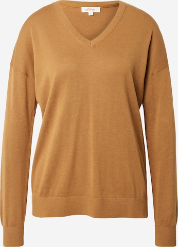 s.Oliver Sweater in Brown