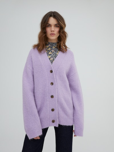 EDITED Knit Cardigan 'Peyton' in Purple, View model