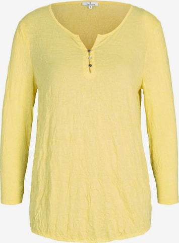 TOM TAILOR Shirt in Yellow