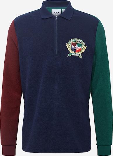 Maglietta 'CREST' ADIDAS ORIGINALS di colore blu scuro / verde / rosso vino, Visualizzazione prodotti