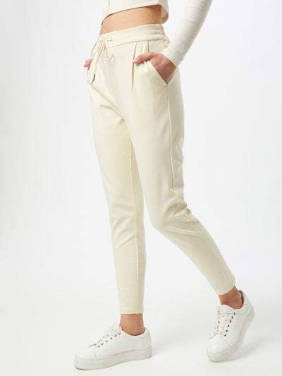 VERO MODA Kalhoty se sklady v pase - offwhite, Model/ka