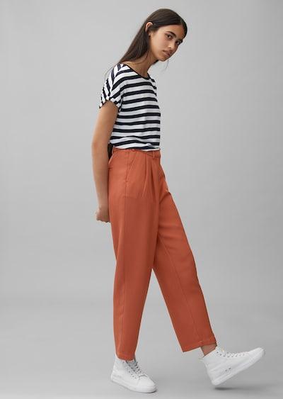 Marc O'Polo DENIM Bundfaltenhose in orange, Modelansicht