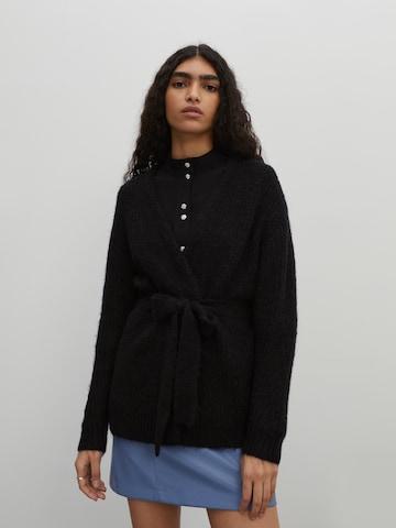 EDITED Knit Cardigan 'Annika' in Black