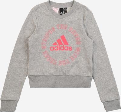 ADIDAS PERFORMANCE Sweatshirt in graumeliert / pink, Produktansicht