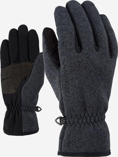ZIENER Multifunktionshandschuhe 'Limagios' in taubenblau / schwarz, Produktansicht