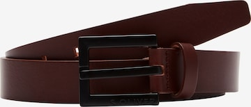 s.Oliver Einfarbiger Ledergürtel in Braun