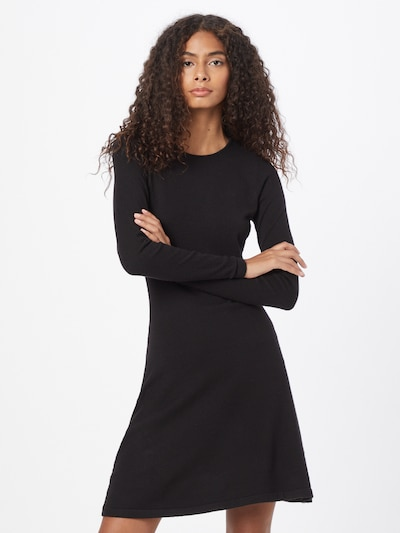 ONLY Dress 'ONLNEW DALLAS O-NECK DRESS CS KNT' in Black, View model