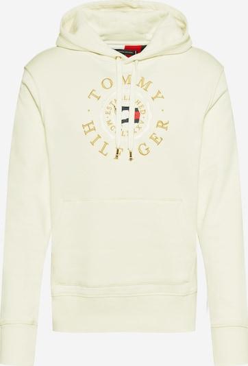 TOMMY HILFIGER Sweater majica u noćno plava / zlatno žuta / svijetlocrvena / vuneno bijela, Pregled proizvoda
