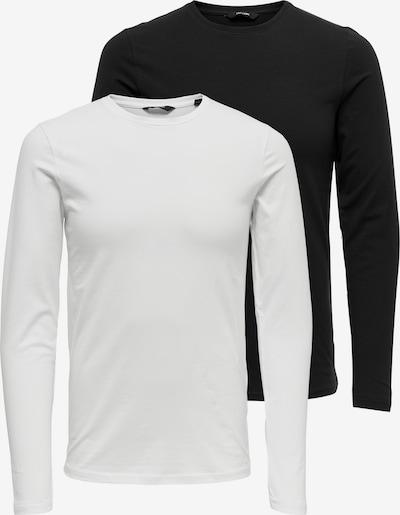 Only & Sons Shirt in de kleur Zwart / Wit, Productweergave