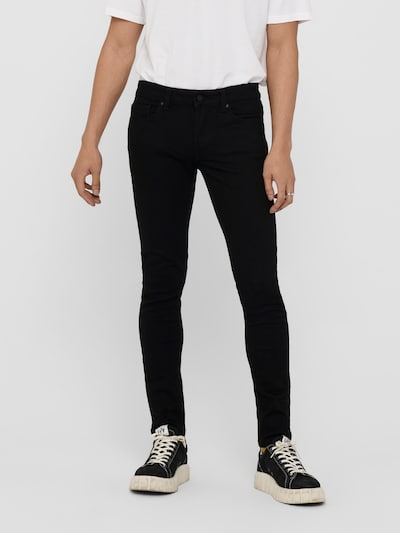 Only & Sons Jeans 'Warp' in de kleur Black denim, Modelweergave