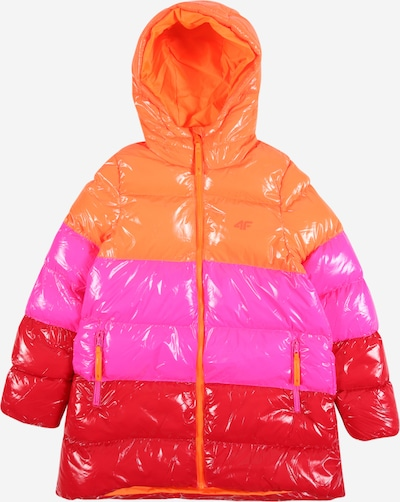 4F Outdoor jacket in pink / orange red / glaring red, Item view