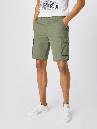 SELECTED HOMME Pantalon cargo 'HAIDEN' en olive, Vue avec modèle