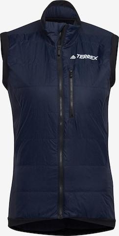 adidas Terrex Outdoorweste 'Hybrid' in Blau