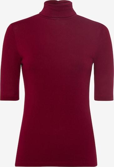zero Shirt in weinrot, Produktansicht