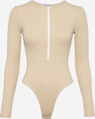 Public Desire Shirtbody in puder / weiß, Produktansicht