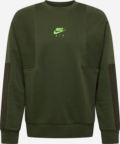 Bluză de molton Nike Sportswear pe kaki / oliv / verde neon, Vizualizare produs