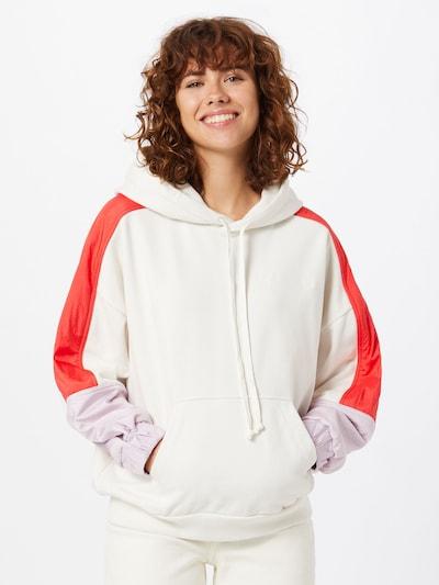 LEVI'S Sweatshirt in creme / rot, Modelansicht