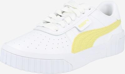 PUMA Baskets basses en jaune / blanc, Vue avec produit