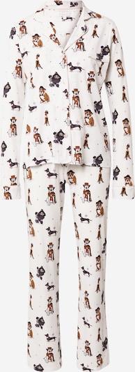 PJ Salvage Pyjama in de kleur Duifblauw / Bruin / Zwart / Wolwit, Productweergave