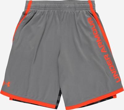 UNDER ARMOUR Спортен панталон 'Stunt 3.0' в антрацитно черно / сребърно сиво / оранжево, Преглед на продукта