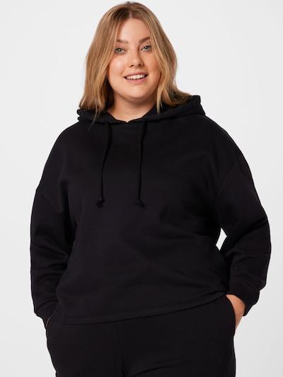 PIECES Curve Суичър 'CHILLI' в черно: Изглед отпред