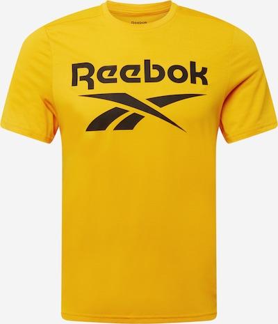 Reebok Sport Functioneel shirt in de kleur Geel / Zwart, Productweergave