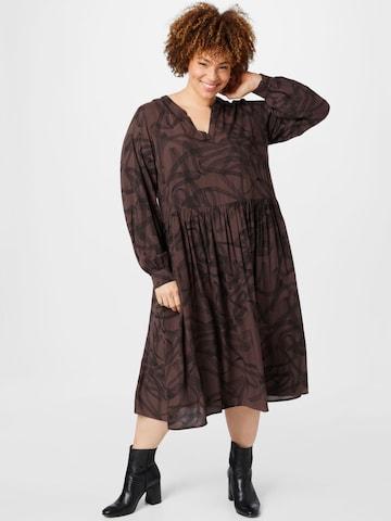KAFFE CURVE Shirt Dress 'Billa' in Brown