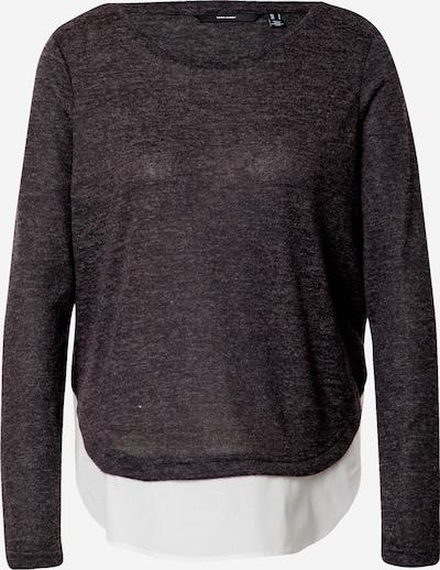 VERO MODA Pull-over 'BIRGIT' en gris foncé / blanc, Vue avec produit