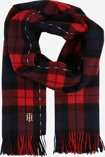 TOMMY HILFIGER Šal   mornarska / rdeča / črna / bela barva, Prikaz izdelka