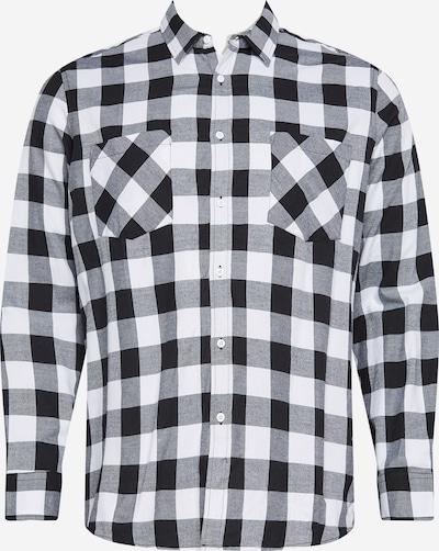 Urban Classics Big & Tall Overhemd in de kleur Zwart / Wit, Productweergave