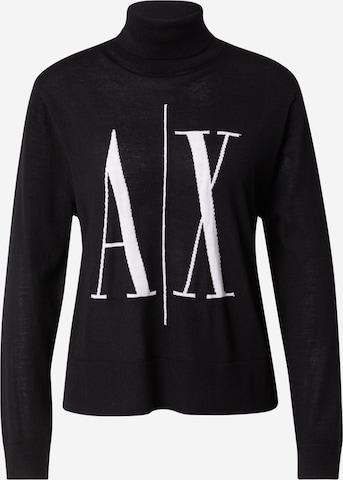 ARMANI EXCHANGE Пуловер в черно