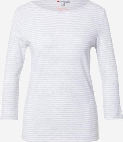 STREET ONE Majica u siva melange / bijela, Pregled proizvoda