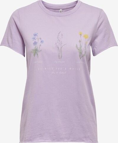 ONLY T-Shirt in lila / mischfarben, Produktansicht