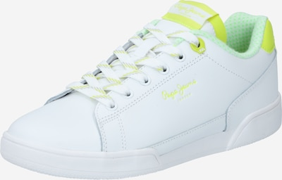 Pepe Jeans Baskets basses 'LAMBERT' en jaune / blanc, Vue avec produit