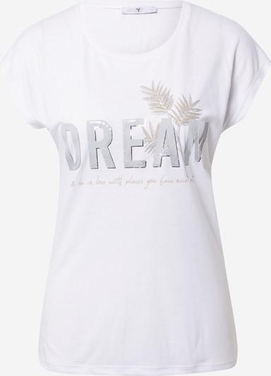 Hailys T-shirt 'Imani' i honung / ljusgrå / silver / vit, Produktvy