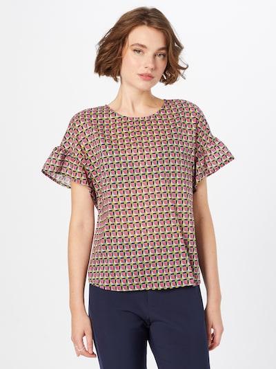 UNITED COLORS OF BENETTON Bluse in oliv / pink / schwarz / weiß, Modelansicht