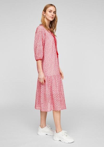 s.Oliver Kleid in rot / weiß, Modelansicht