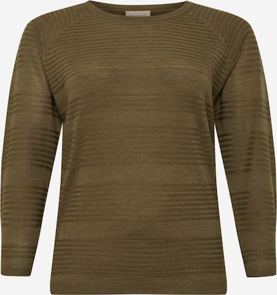 ONLY Carmakoma Sweater 'Airplain' in Khaki, Item view