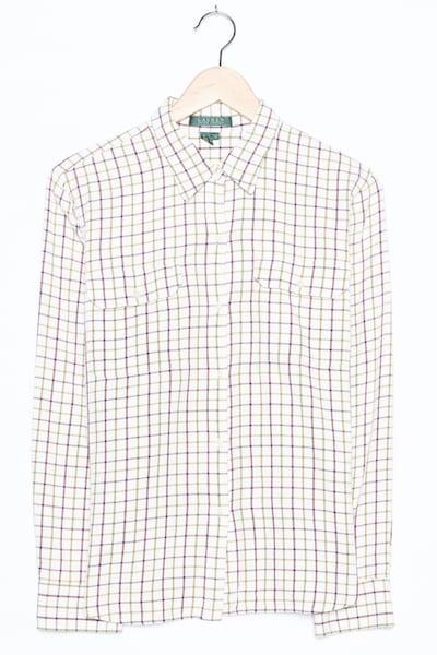 RALPH LAUREN Flanellhemd in L in weiß, Produktansicht